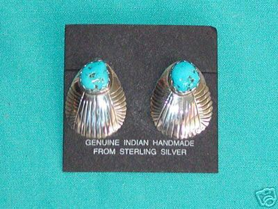 Sterling Silver, Turquoise Earrings