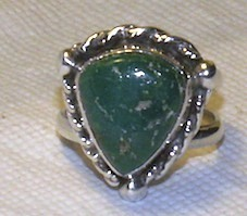 Sterling Silver Turquoise Southwestern Ring Sz 6
