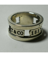 Tiffany & Co 1837 Elements Cutout Ring - Vintage, Rare, Sterling Silver ... - $169.74