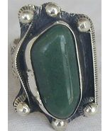 Green agate ring SR63 - $40.00