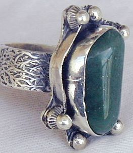 Green agate ring SR63