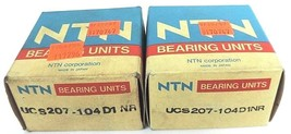 LOT OF 2 NIB NTN UCS207-104D1NR RADIAL INSERT BALL BEARINGS UCS207104D1NR