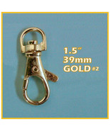 40 Gold No 2 1.5 Inch Lobster Swivel Clasps - $17.12
