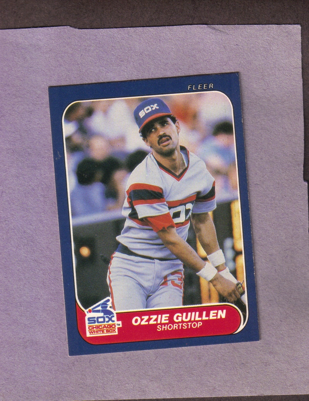 1986 Fleer # 206 Ozzie Guillen RC Chicago White Sox