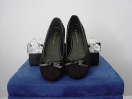 CL by Laundry Ambrosia Cable Knit Flats in Black (Size 6) New - $38.00