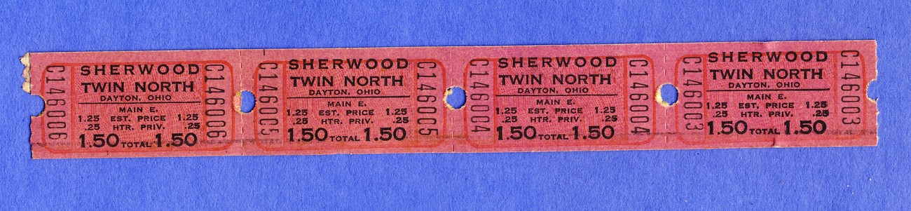 4 sherwood 1.50 tickets