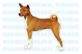 BASENJI -Dog Decal- sticker dogs car got window... - $4.89
