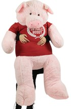 Giant Stuffed Pig 60 Inch Soft 5 Foot Pink Plus... - $157.21