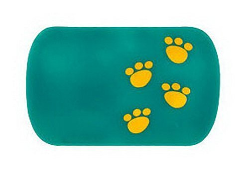Lovely Footprint Anti Slip Mat Car Non-slip Mat GREEN 1 Pcs