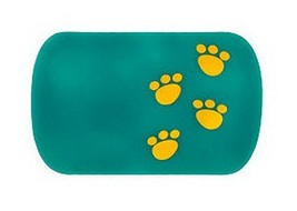 PANDA SUPERSTORE Lovely Footprint Anti Slip Mat Car Non-Slip Mat Green 1 Pcs