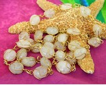 Vintage wire wrapped quartz gemstone necklace lapidary thumb155 crop