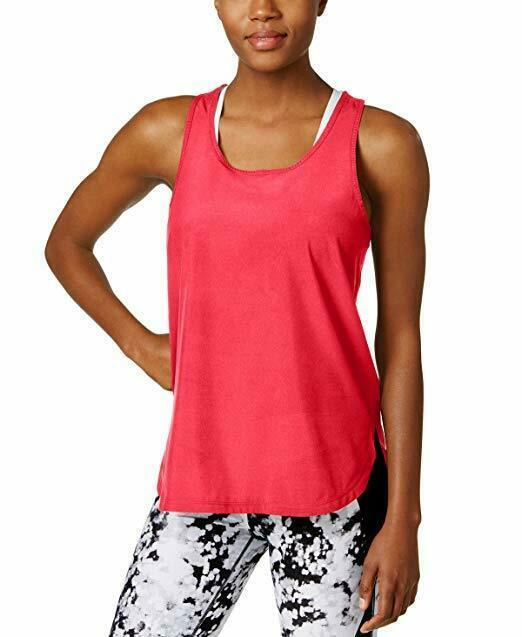 Primary image for Calvin Klein Performance Top Sz M Energy Pink Quick Dry Racerback Active Tank