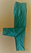 Scrub Pants Hunter Green M Top Line TL201 Uniform Elastic Waist Side Pkts New - $16.46