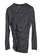 Isabel Marant Etoile grey Malo top with side ruffle - £94.68 GBP