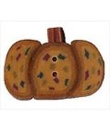 Tiny Gold Wild Pumpkin 2294t handmade clay butt... - $1.40