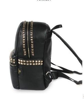 women new fashion rivet backpack preppy style school bag travel portable bag