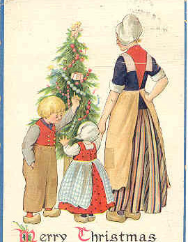 A Merry Christmas To You All Vintage Tucks Post Card