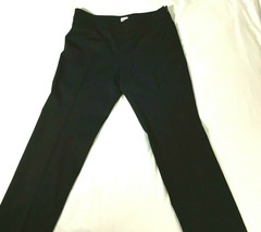 Armani Collezioni Womens 10 Black Wool Blend Pants Slacks - $39.59