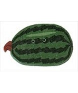"""Large Green Watermelon 2295L handmade clay button .87""""JABC Just Another ... - $2.00"""