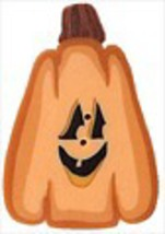 "Lg Jack-O-Lantern 2298L handmade clay button 1"" x 1.25""JABC Just Another... - $3.00"