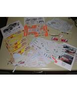 Assorted Vintage Nascar model car decal sticker 1/24 sheets - $19.99