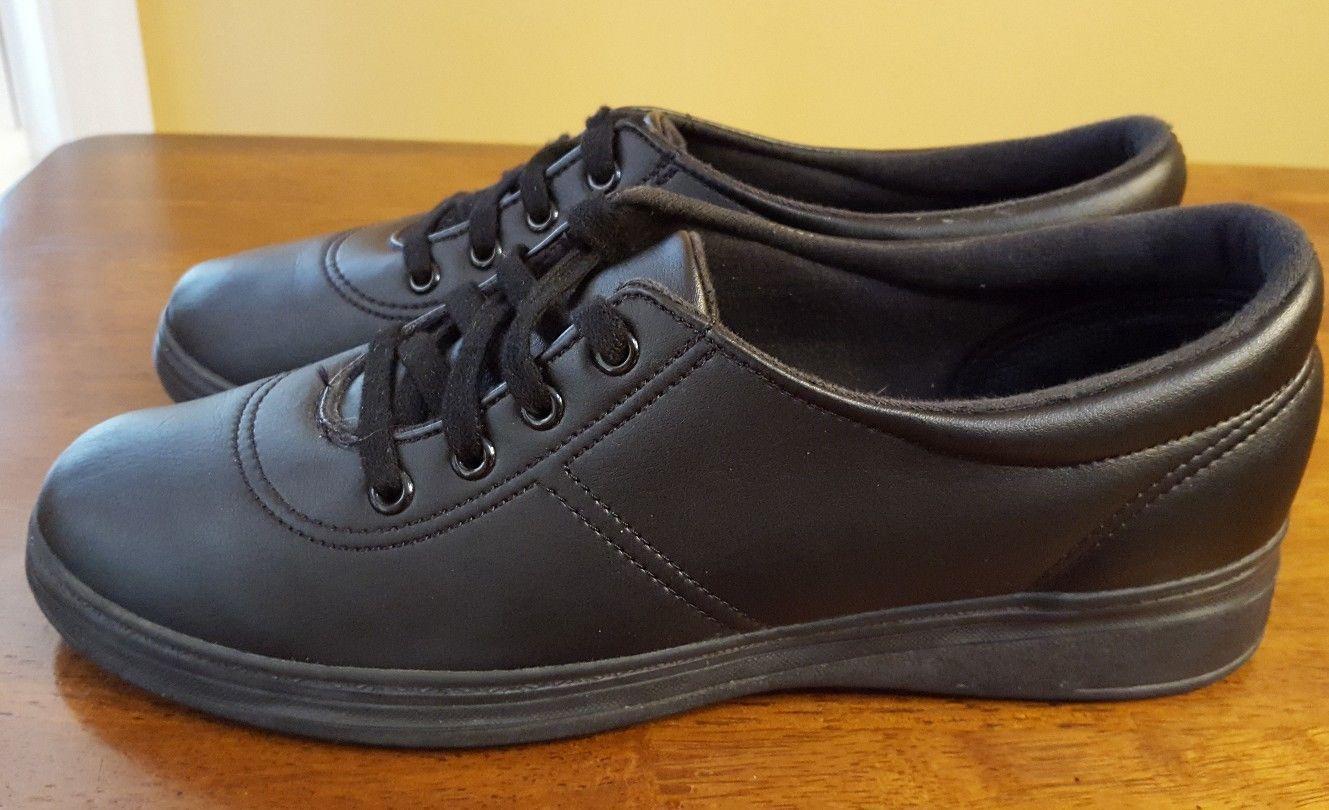 newest 3e65e 03c67 Womens GRASSHOPPERS ASHLAND EH05001 Black Sneakers Comfort Shoes Sz 9.5 -  18.27