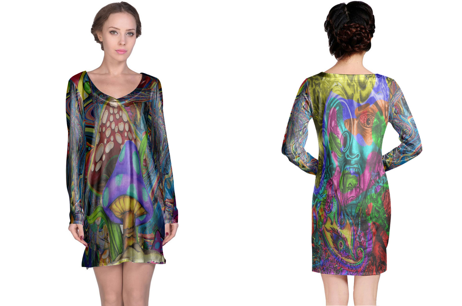 Primary image for DMT Collection #2 Women's Long Sleeve Night Dress