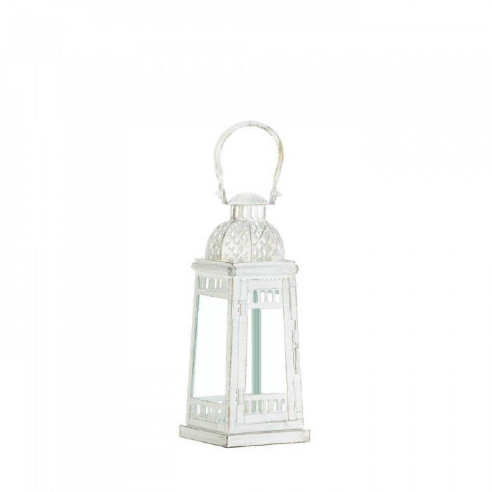 White Moroccan Inspiration Lantern