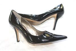 Nine West Freda Blk Patent Leather Pumps Stilettos women Heels sz 10.5 Pointy - $17.82