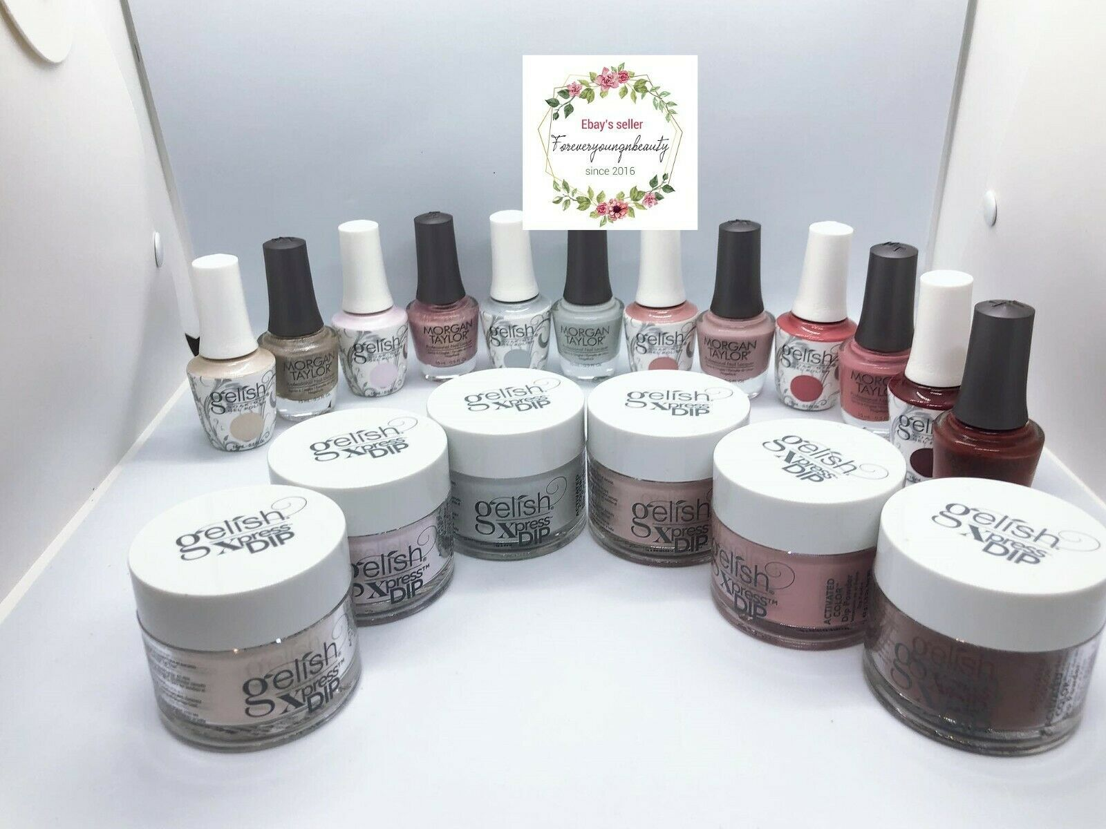 Primary image for Gelish Gel Polish + LACQUER + DIP Out In The Open Collection 2021 0.5 oz TRIO