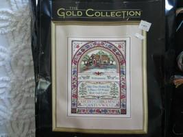 Dimensions Gold Collection Floral Cottage Sampler Cross Stitch Kit - Started - $24.75