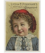 Lydia Pinkham's vegetable compound Victorian trade card advertising Howe... - $22.00