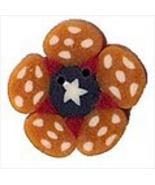 """Small Liberty Golden Flower 2304s handmade clay button .5""""JABC Just Anot... - $1.40"""