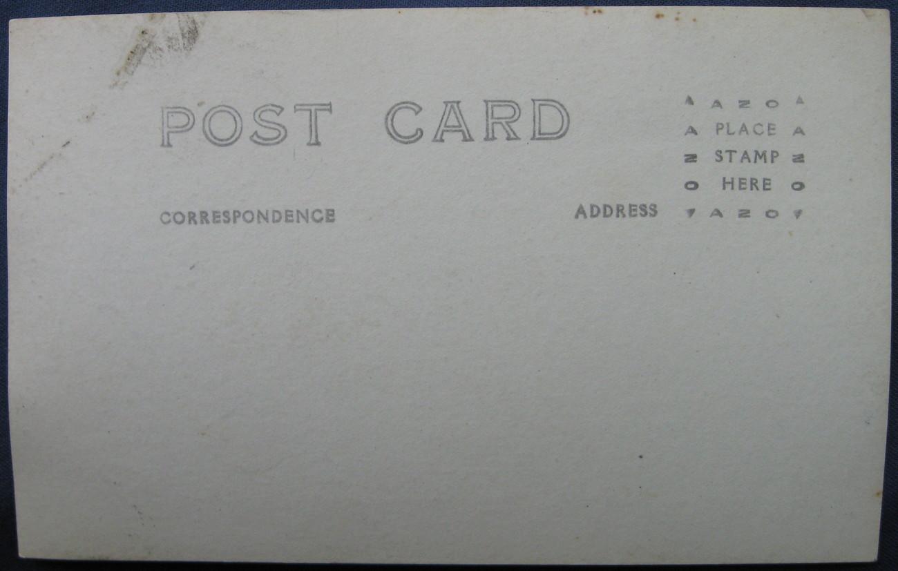 RPPC, AZO Postcard, American Warship at Sea, 1918 - 1930