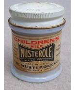 Vintage Jar of Children's Mild Musterole Milk Glass - $9.99