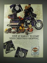 1991 Harley-Davidson Motorcycles and Accessories Ad - Stop at Harley to start  - $14.99