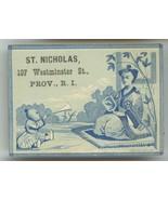 St. Nicholas Victorian trade card Providence Rhode Island fancy goods cu... - $7.50