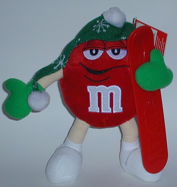 1/2 off! Large Red M&M Skier Plush Collectible Plush New w/o Tag