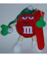 1/2 off! Large Red M&M Skier Plush Collectible Plush New w/o Tag - $5.00