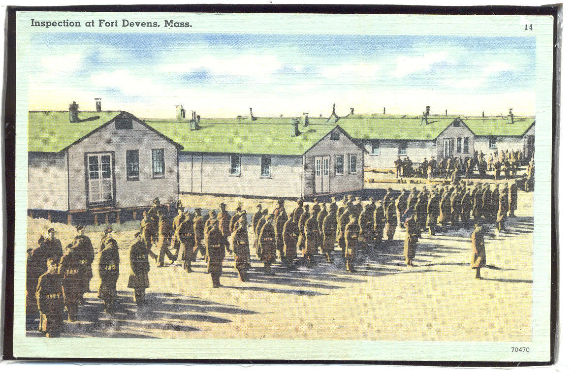 Inspection at Fort Devens Mass. linen  1.23