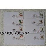 """8 US """"Children's Book Animals"""" Stamps Covers FDC 2006 Compl. - $33.47 CAD"""
