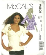 PLUS SIZE 14-20 McCALL'SBLOUSE AND BELT SET # M5809 EE - $7.50