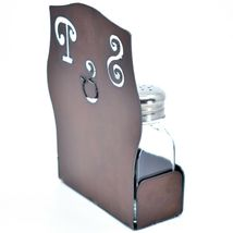 Rustic Iron Metal Cutout S&P Script Salt & Pepper Shaker Set image 4