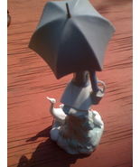 Lladro Girl With Umbrella - Lladro Figurine Blue Bellflower Mark - $240.00