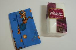 Tigger Kleenex Tissue Case Cover Holder Fabric Free Ship Handmade Handsewn - $3.50