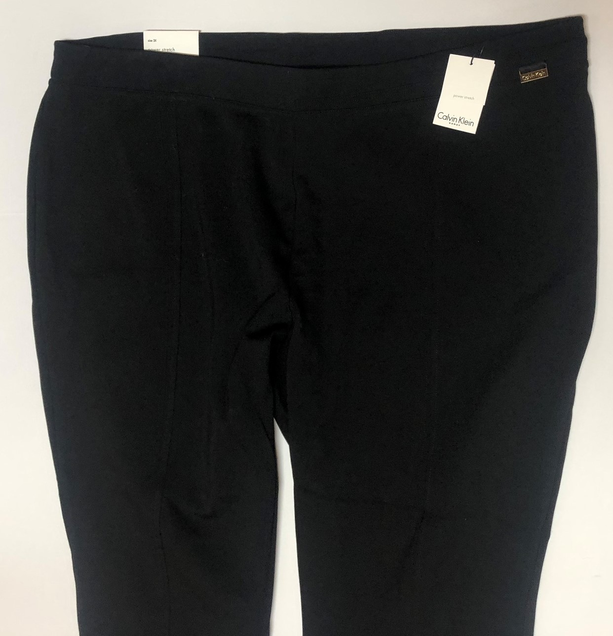 Calvin Klein Power Stretch Black Pants Women Sz 3X image 2