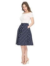 Maggie Tang 1950s Vintage Retro Polka Dots Swing Rockabilly Casual Skirt... - $18.70