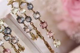 NEW AUTH Christian Dior 2019 J'ADIOR EARRINGS GOLD CRYSTAL DANGLE MULTI STRAND image 4