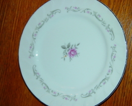 "FINE CHINA ROYAL SWIRL SIDE SMALL PLATE 7 1/2"" - $6.99"