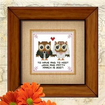 Hootie Love Vow Wedding cross stitch chart Pinoy Stitch - $6.30